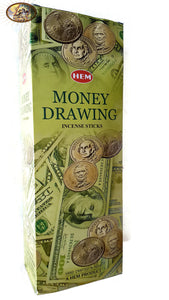 Incense Money Drawing 120 Sticks In a Six Pack SAC
