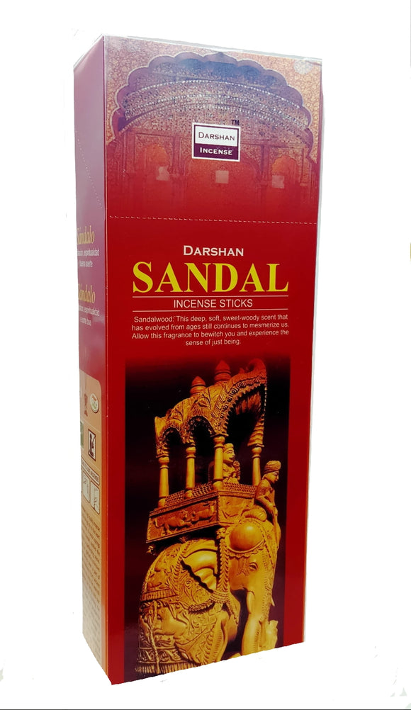 Sandal Incense Home Aroma Six Pack of 120 Sticks Made in India.