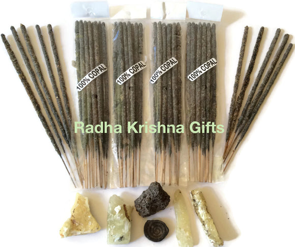 Mexican Copal Incense 4 Bags With 10 Sticks Each. Handmade in Mexico With Authentic Copal Resin.