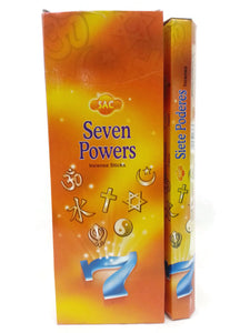 Incense Seven Powers, 120 Sticks In a 6 Pack. SAC, Hand Made Assorted Aroma.