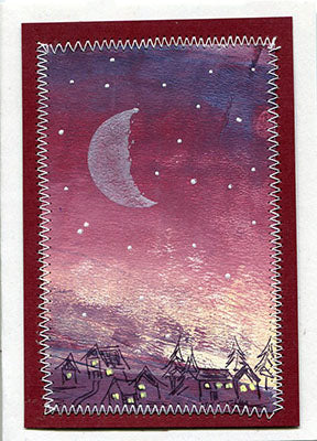 Waning Moon Rubber Stamp, Phases Series