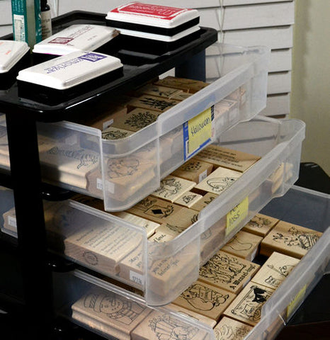 For Wood Mounted Stamps: