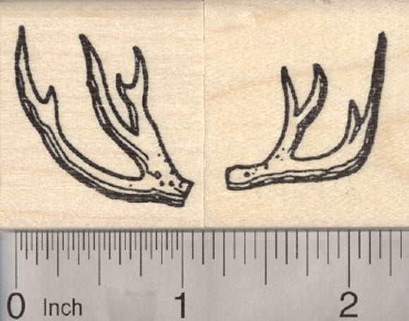 2-Piece Deer Antler Rubber Stamp Set