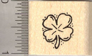 St. Patrick's Day Four Leaf Clover Rubber Stamp