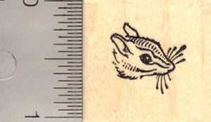 Tiny Chipmunk Face Rubber Stamp