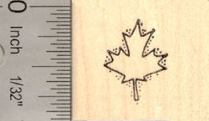 Tiny Maple Leaf Rubber Stamp