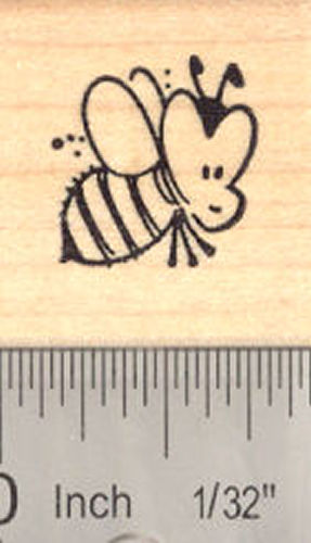 Cute Bee Rubber Stamp