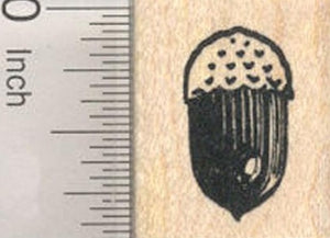 Acorn Rubber Stamp, Oak Tree Nut