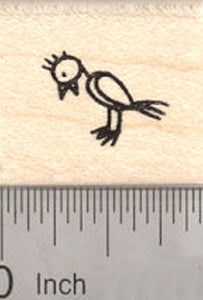 Bird Rubber Stamp, Stick Figure Collection
