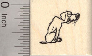 Small Scurvy Dog Rubber Stamp, Pirate Series