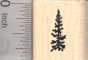 Tiny Pine Tree Rubber Stamp, Great Evergreen for Scenes, Fir