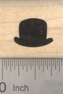 Small Bowler Hat Rubber Stamp