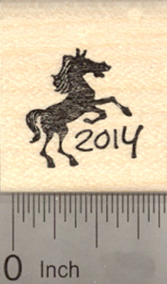 Chinese New Year Rubber Stamp, 2014 Year of the Horse, Zodiac