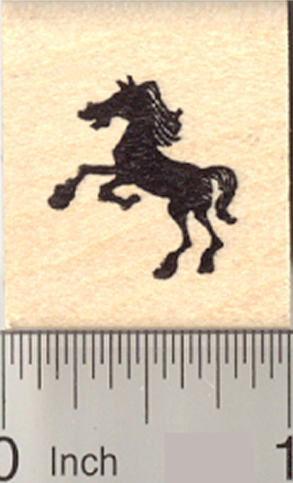Small Horse Silhouette Rubber Stamp, Facing Left