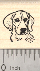 Beagle Dog Rubber Stamp, Portrait