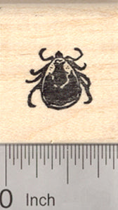 Woodtick Rubber Stamp, American Dog Tick, Rocky Mountain
