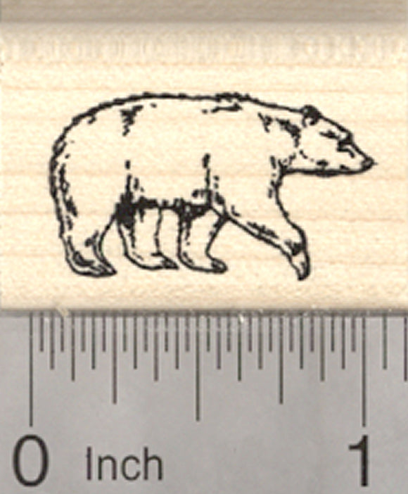 Black Bear Rubber Stamp, Small
