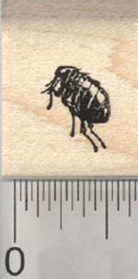 Tiny Flea Rubber Stamp, .5 inch