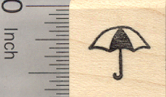 Tiny Umbrella Rubber Stamp, .5 inch width