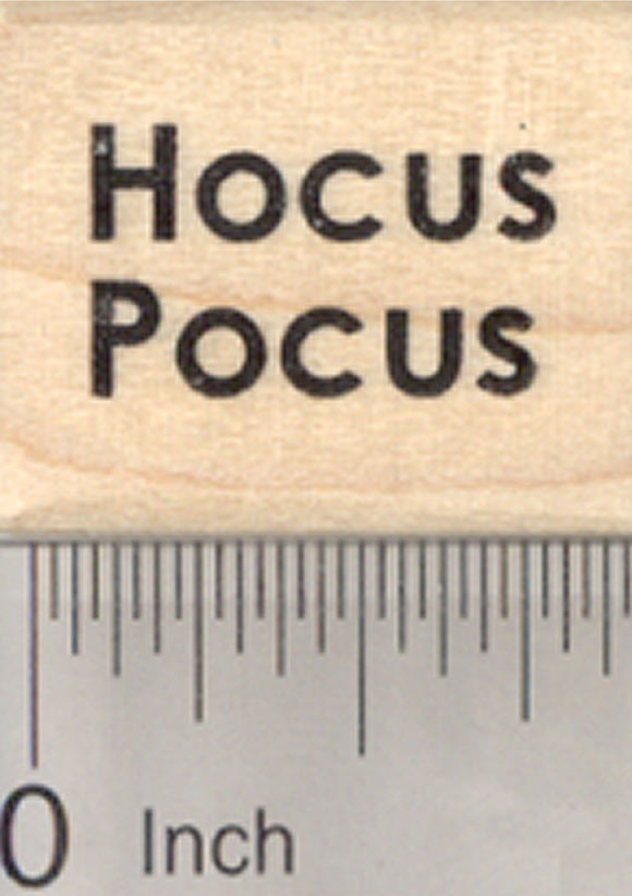 Hocus Pocus Rubber Stamp, Halloween Witch Saying