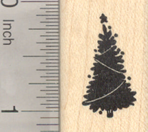 Tiny Christmas Tree Rubber Stamp
