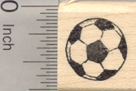 Small Soccer Ball Rubber Stamp, Association Football
