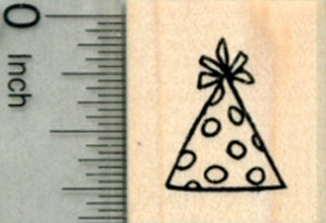 Party Hat Rubber Stamp, Small