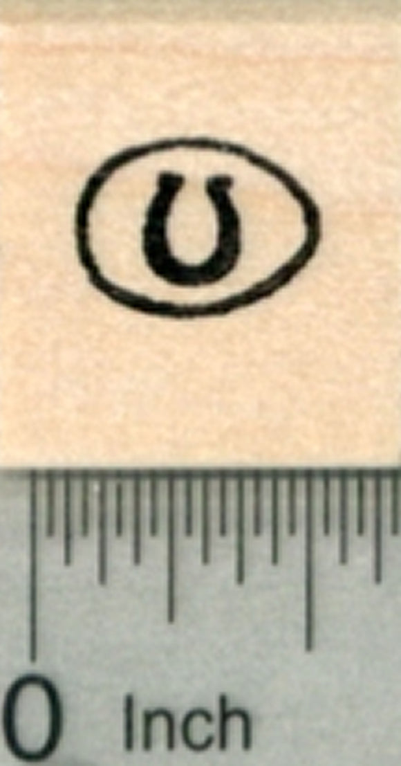 Tiny Horseshoe Egg Rubber Stamp, Easter, St. Patrick's Day