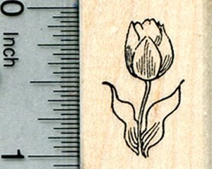 Tulip Flower Rubber Stamp, Summer Floral Series, Small