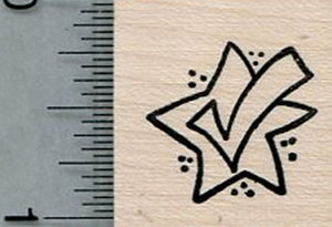 Checkmark Rubber Stamp, Election, Voting Rights Series