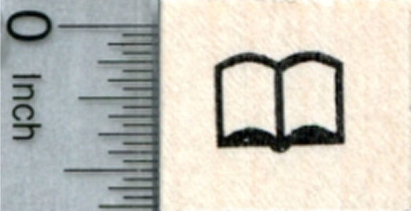 Tiny Book Rubber Stamp, Reading Series