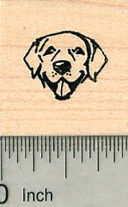 Tiny Dog Face Rubber Stamp, Labrador Retriever