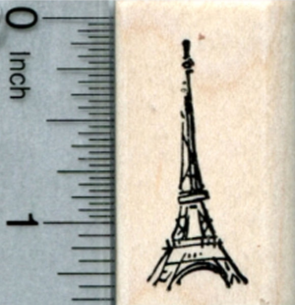 Tiny Eiffel Tower Rubber Stamp, Paris France, World Travel Series