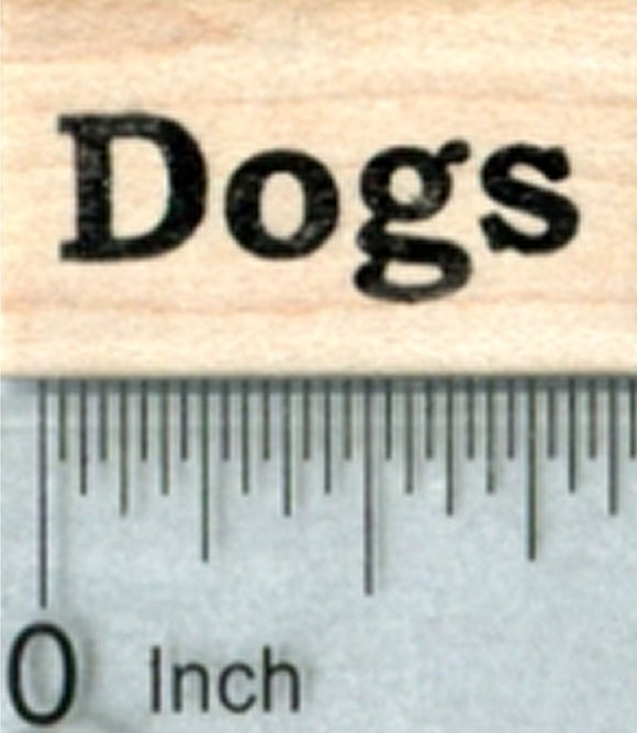 Dogs Rubber Stamp