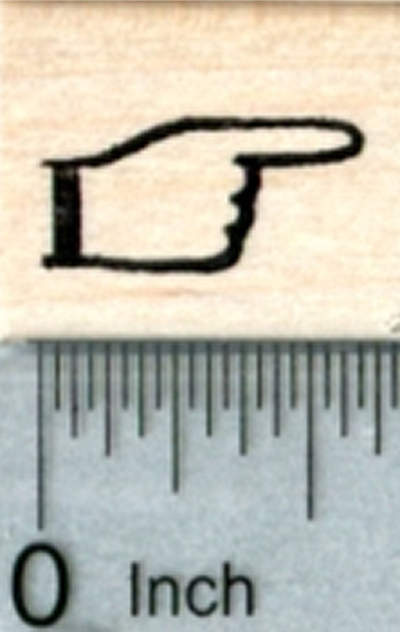Pointer Finger Rubber Stamp, Small (Pointing Right)