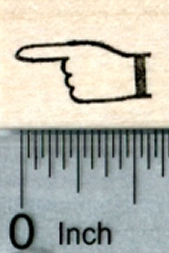 Pointer Finger Rubber Stamp, Small (Pointing Left)