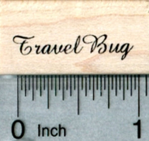 Travel Bug Rubber Stamp, Small Text