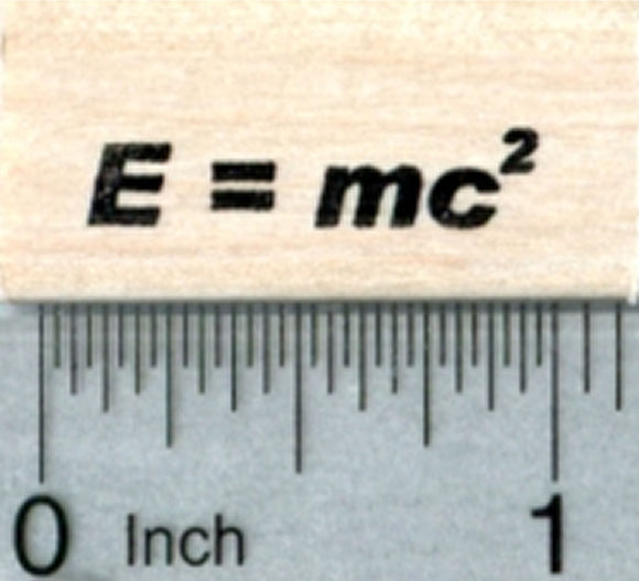 Einstein's Equation Rubber Stamp, Mass–energy equivalence