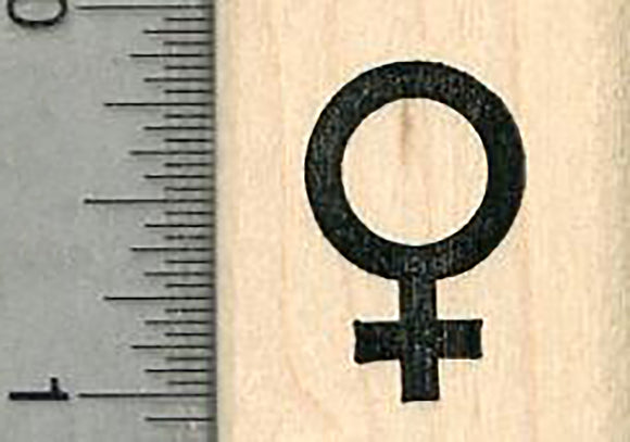 Female Symbol Rubber Stamp, Small Size, 7/8 inch tall