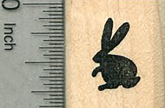 Tiny Bunny Rubber Stamp, Easter Series, Silhouette