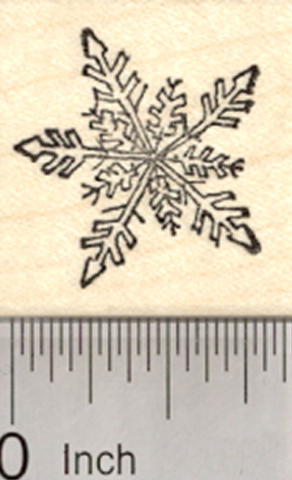 Snowflake Rubber Stamp, Snow Flake Falling, Holiday Season