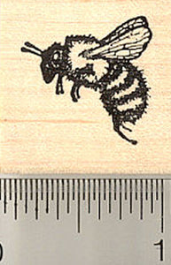 Honey Bee Rubber Stamp, Small