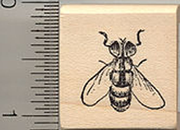 Fly Rubber Stamp