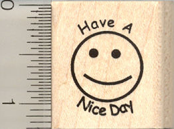 Smiley Rubber Stamp, Have a Nice Day