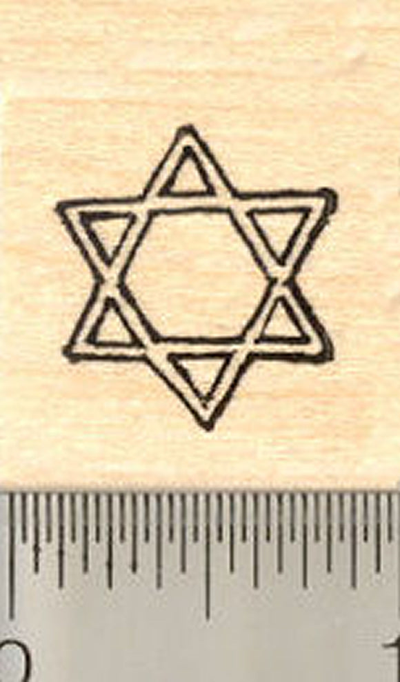 Star of David Rubber Stamp, Hanukkah, Chanukah