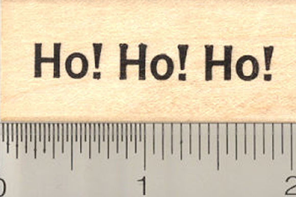 Ho Ho Ho Rubber Stamp, Christmas Santa Saying