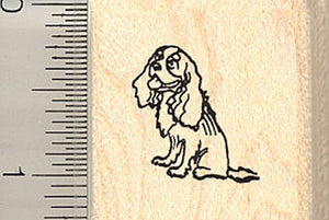 Tiny Cavalier King Charles Spaniel Rubber Stamp