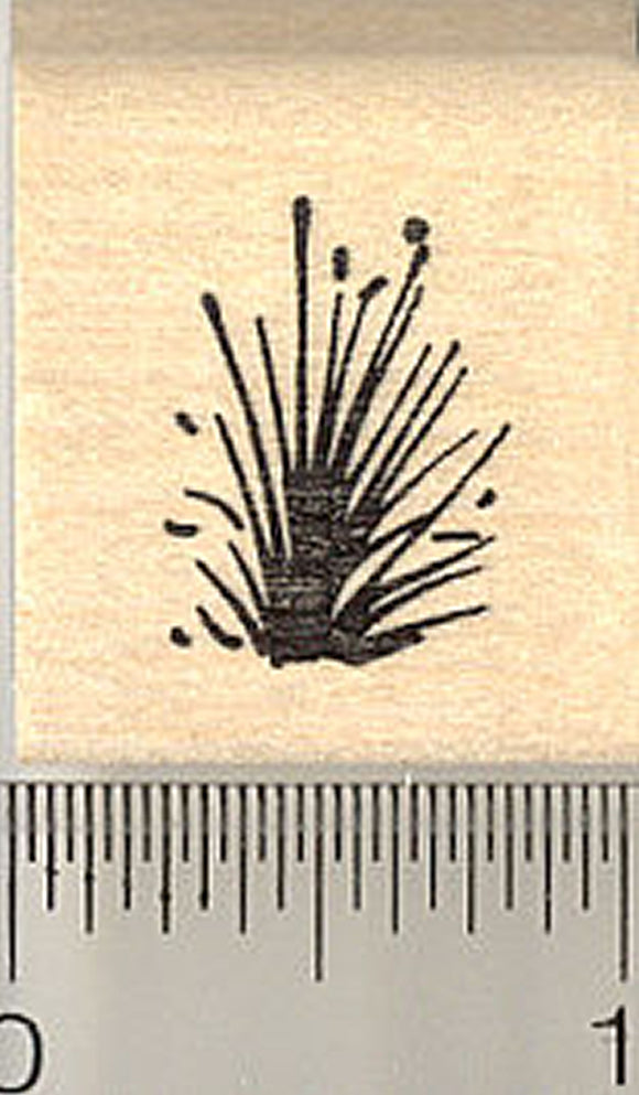 Small Tuft of Grass Rubber Stamp