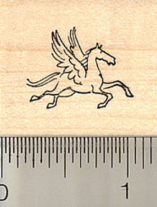 Very Small Pegasus Rubber Stamp