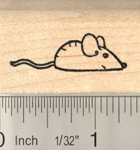 Catnip Mouse Rubber Stamp